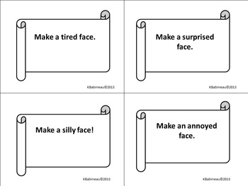 Social Skill Activity Cards:  Use Facial Expressions and Gestures to Communicate