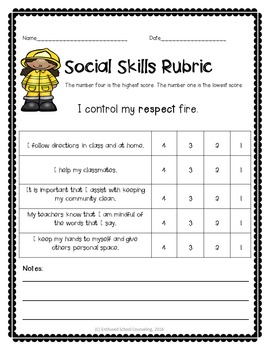 Social Skill Activity Pack- 6 Activities, Posters, Rubrics and Coloring Sheets