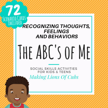 Social Skill Activity- Recognizing Thoughts, Feelings and Behaviors