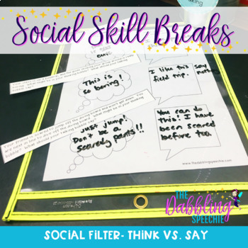 Social Skill Breaks Curriculum:  Social Skills Activities For SLPs