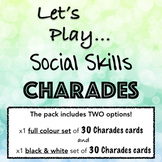 Social Skill CHARADES! A fun game to teach, assess & practice social skills