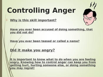 Social Skill: Controlling Anger