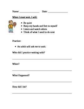 Social Skill Homework:  Waiting