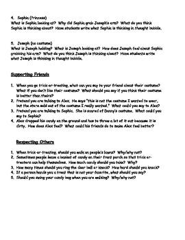 Social Skill Lesson for Halloween