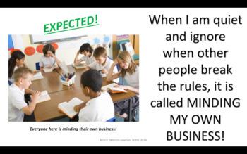 Social Skill: Mind your own business; tattling, teacher job, my job