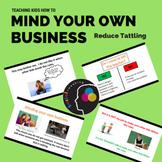 Social Skill: Mind your own business; tattling, teacher jo