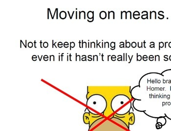Social Skill:  Move on