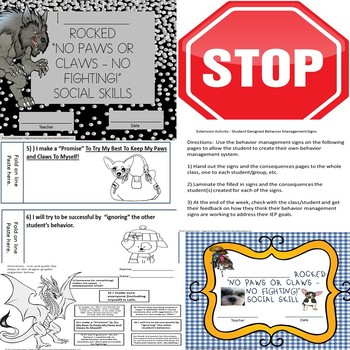Social Skill No Fighting Worksheets/Flip Flap Booklet SPED/Autism/ODD