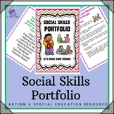 Social Skill Portfolio  - 40 Pages - Autism Resource