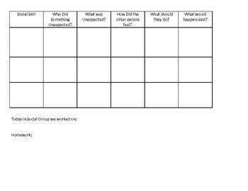 Social Skill Role Play Chart