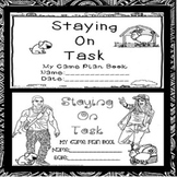 Social Skill Staying On Task Worksheets SPED/Autism/ODD/SLD/ID/ELD