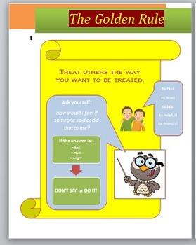 Social Skill Visual & Worksheet:  The Golden Rule
