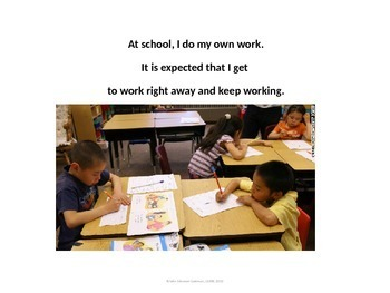 Social Skill: Working independently; raise hand