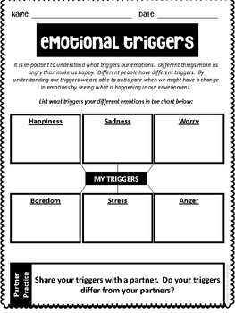 Social Skill Worksheets-Emotions