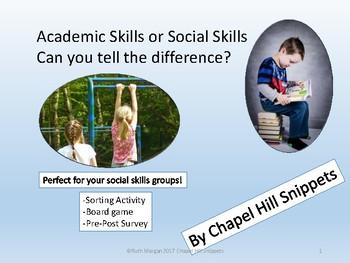 Social Skill or Academic Skill-Sorting Activity + Game for social skills group