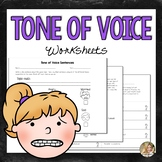 Social Skills Worksheets | Tone of Voice