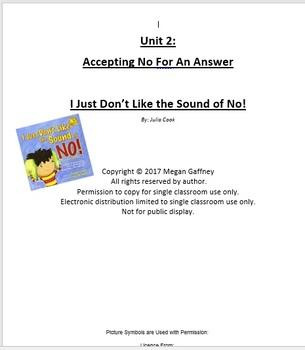 Social Skills Accepting NO homework packet