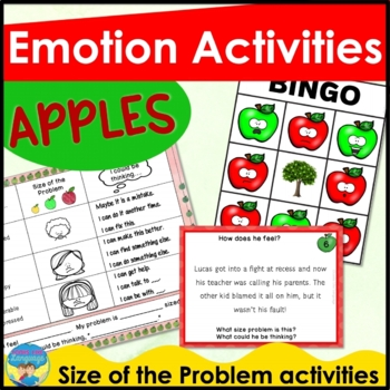 Social Skills Activities: Apple Emotions Games and Problem Cards