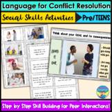 Social Skills Activities | Pre/Teens | Conflict Resolution Language