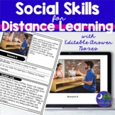 Social Skills Perspective Taking Editable Answers Distance