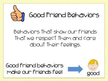 Good Friend vs. Not A Friend Behavior: A Social Skills Activity