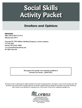 Social Skills Activity Packet