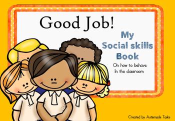 My Social Skills Book on class behaviour. Autism/Special needs/Kindergarten