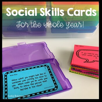 Social Skills All Year Cards
