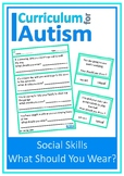 Social Skills Appropriate Clothing Autism Special Education