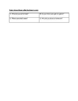 Social Skills- Asking Questions
