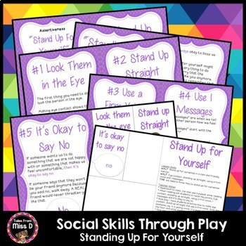 Social Skills Through Play Standing Up For Yourself