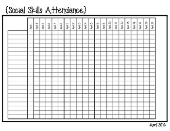 Social Skills Attendance and Records