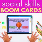 Social Skills BOOM CARDS - Distance Learning Social Skills