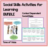 Social Skills BUNDLE: Activities to improve conversation & friendship skills