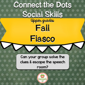 Back to School Social Skills Group Work Escape Room