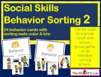 Social Skills Behavior Sorting 2