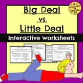 Social Skills - Big Deal vs. Little Deal Sorting Worksheet
