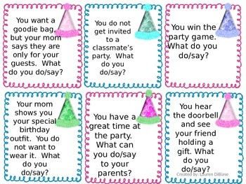 Social Skills - Birthday Party Edition!