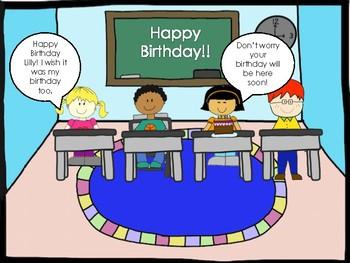 Social Skills:  Birthday Strip Social Story