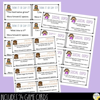 Social Skills Board Game Elementary Social Skills Game