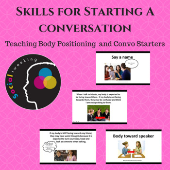 Social Skills Body Position and Starting a conversation