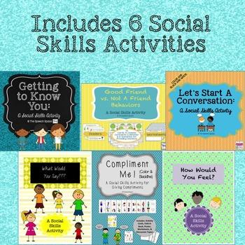 Social Skills Power Pack - 6 Social Skills Activities