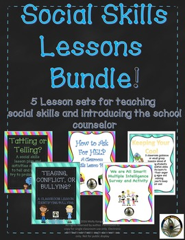 Social Skills Bundle: 5 Lessons to help with social skills and class behavior