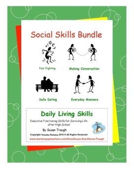 Daily Living Skills-Social Skills Workbooks Bundle Pack
