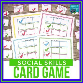 Social Skills Card Game