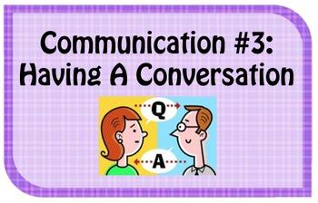 Social Skills Cards: Communication Skills Pack