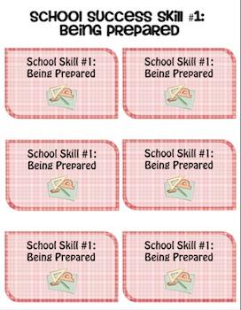 Social Skills Cards: School Success Pack