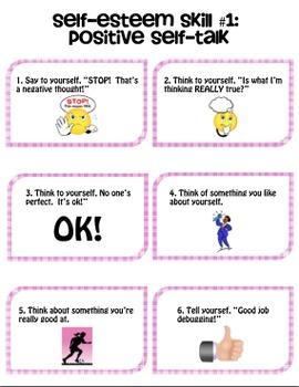 Social Skills Cards: Self-Esteem Pack