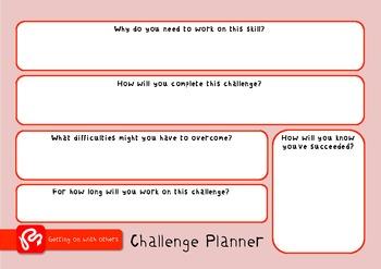 Social Skills Challenge Pack - targets, posters & worksheets for social skills