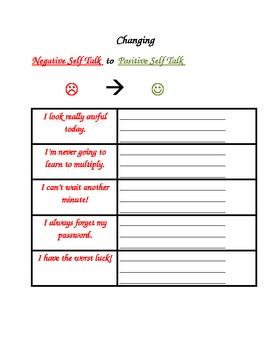 Social Skills: Changing Negative Self Talk to Positive Self Talk